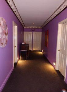 Frankston South Brothel Interior Hallway on first floor showing glorious decor.